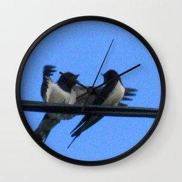 Sullu (swallows) Wall Clock