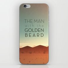 The Man with the Golden Beard iPhone Skin