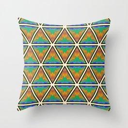 Pyramitile 3 (Repeating 1) Throw Pillow
