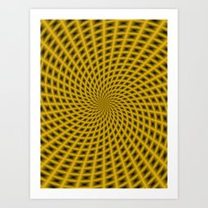 Spiral Rays in Gold Art Print