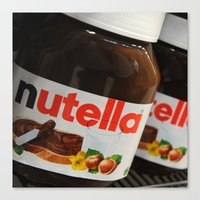 nutella Canvas Prints featuring Nutella by Max Jones