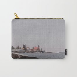 Lighthouse Winter Waterfront on Lake Superior Carry-All Pouch