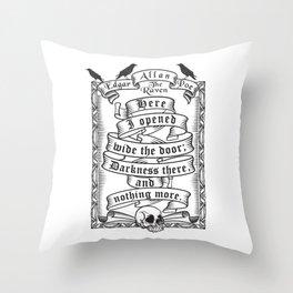 Edgar Allen Poe - The Raven Throw Pillow