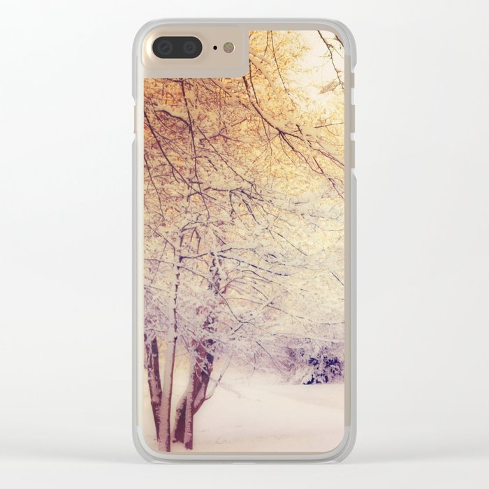 Snow Dream Clear iPhone Case
