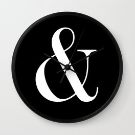 AMPERSAND B&W Wall Clock