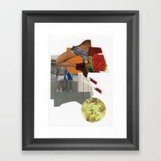 tennis rose Framed Art Print