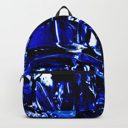 Liquid Cobalt Metal Backpack