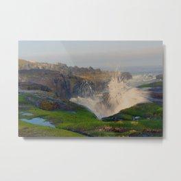 Waves Crashing in Yachats Metal Print
