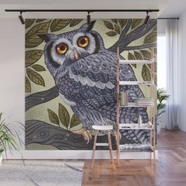 White Faced Owl Wall Mural