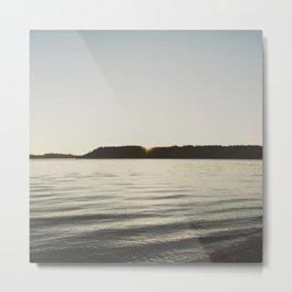 Puget Sound at Sunset Metal Print
