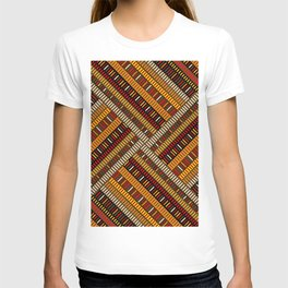 Doodle african pattern with geometric motifs T-shirt