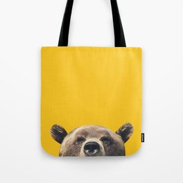 Bear - Yellow Tote Bag