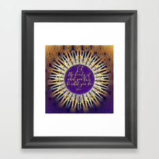 Inspire Artistry • Do What You Love Framed Art Print