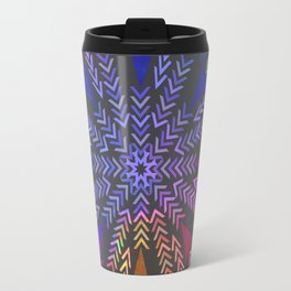 Multicolored geometric firework Travel Mug