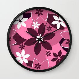 Floral fantasy in pink Wall Clock