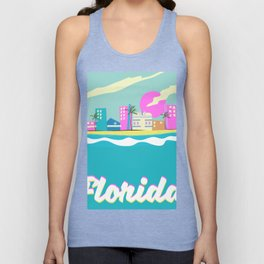 Florida 80s vacation poster Unisex Tank Top