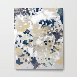 Nigel - Abstract art painting brushstrokes free spirt dorm college masculine feminine art print cali Metal Print