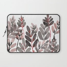 Pink Blush Watercolor Layered Leaves Laptop Sleeve