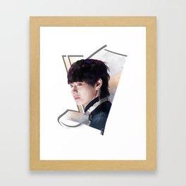 V Taehyung Framed Art Print