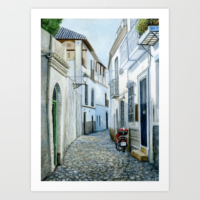 Albaicín, Granada, Spain Kunstdrucke