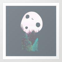 kodama Art Prints featuring Dreamland Kodama by Canis Picta