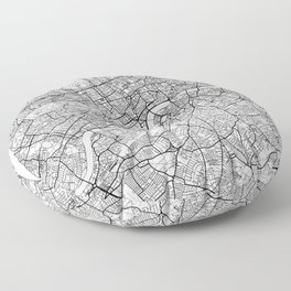 London Map White Floor Pillow