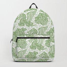 Pegasus Pattern Nile Green Backpack