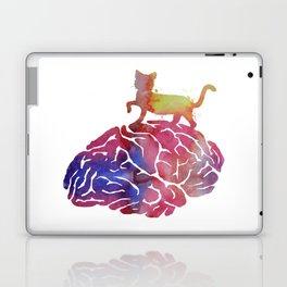 Cat and brain Laptop & iPad Skin