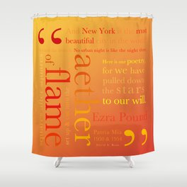 New York Typography Lg-C Shower Curtain