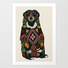 sun bear almond Art Print