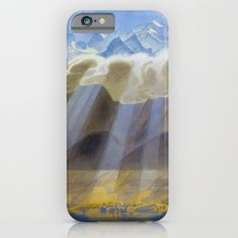 Sun Over Southern Mountains and Sea landscape by Jens Ferdinand Willumsen iPhone Case