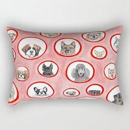 The Dog Show Rectangular Pillow