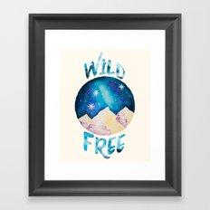 Wild & Free - Gypsy Galaxy Starscape Mountains Framed Art Print