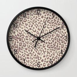 Light Tan Leopard Wall Clock