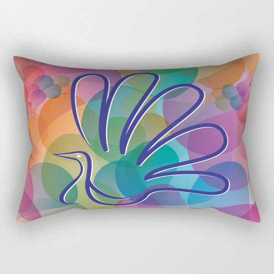 Peacock - Five-finger gloves Rectangular Pillow