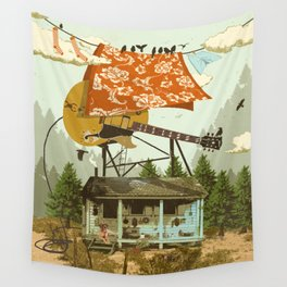 CABIN DOG Wall Tapestry