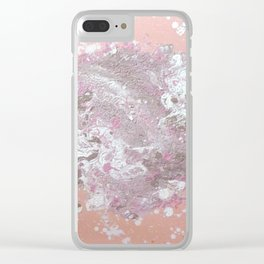 pink splat Clear iPhone Case