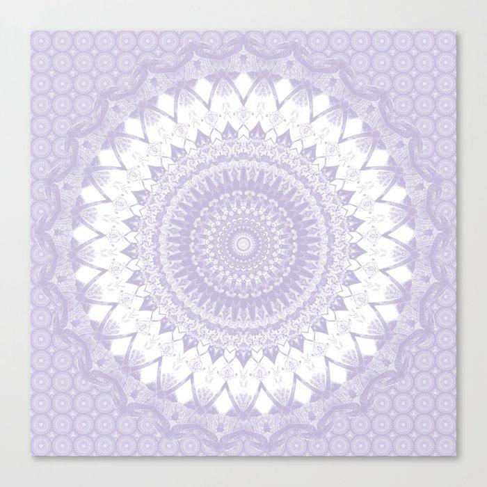 Boho Pastel Purple Mandala Leinwanddruck