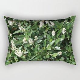 green/white Rectangular Pillow