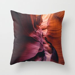 Antelope Canyon Rainbow Throw Pillow