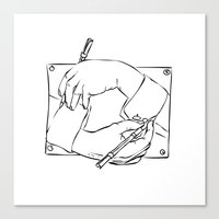 escher Canvas Prints featuring Escher by franzgoria