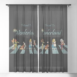 The Road To Wonderland Sheer Curtain