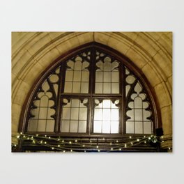 St. Mary Abbots Cloister Detail Canvas Print