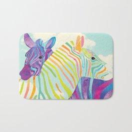 Shanti Sparrow: Lola and Frankie the Zebras Bath Mat