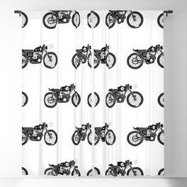 Moto #16 (White/Black) Blackout Curtain