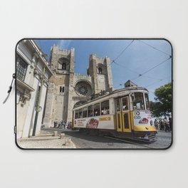 Tram outside Lisbon Cathedral Laptop Sleeve