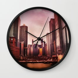 River In The Loop Wall Clock