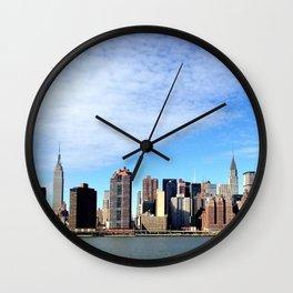 NYC Skyline from Long Island City Wall Clock