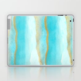 Gold and blue sea Laptop & iPad Skin