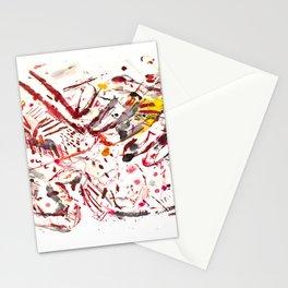Pain: powerful acrylic splashing piece Stationery Cards
